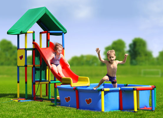 QUADRO UNIVERSAL Junglegym Tower Pool Modular Slide
