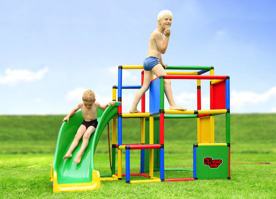 QUADRO JUNIOR Junglegym Activity Tower Curved Slide