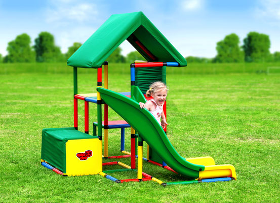 QUADRO UNIVERSAL Junglegym Playhouse Curved Slide