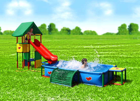 QUADRO UNIVERSAL Junglegym Playtower Pool XXL
