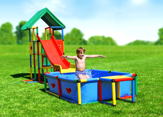 QUADRO UNIVERSAL Junglegym Playhouse Pool Modular Slide