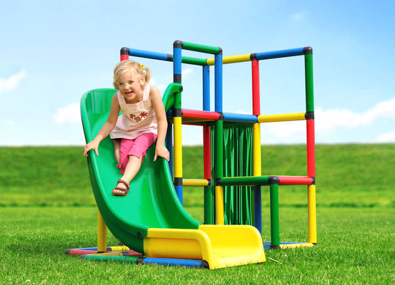 QUADRO STARTER Junglegym Playtower Curved Slide