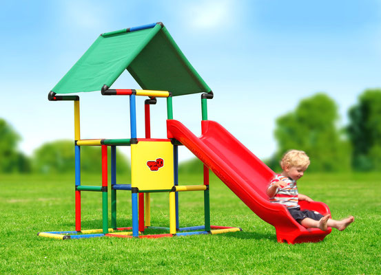 QUADRO JUNIOR Junglegym Castle Integrated Slide