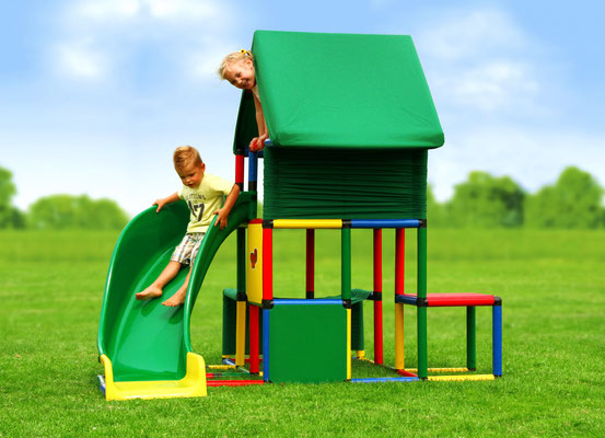 QUADRO UNIVERSAL Junglegym Playtower Curved Slide
