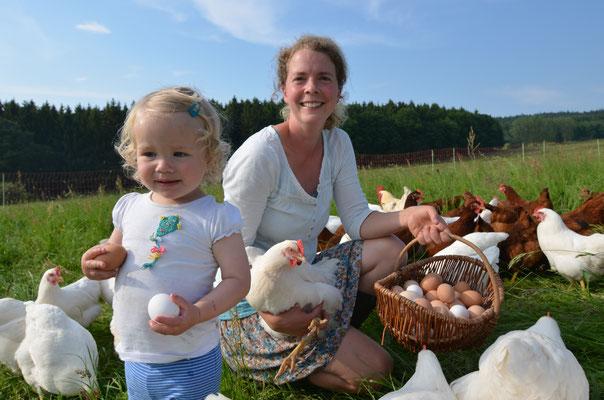 Farina Täuber im Eier-Glück