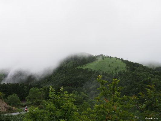 富士見台方面も濃霧に覆われています