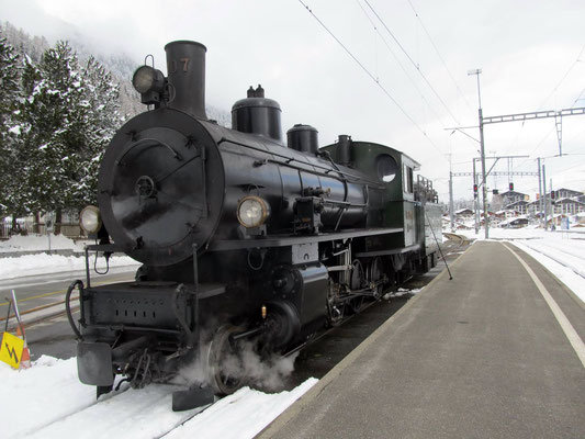 RhB Dampflok G 4/5 Nr. 107 im Wintereinsatz