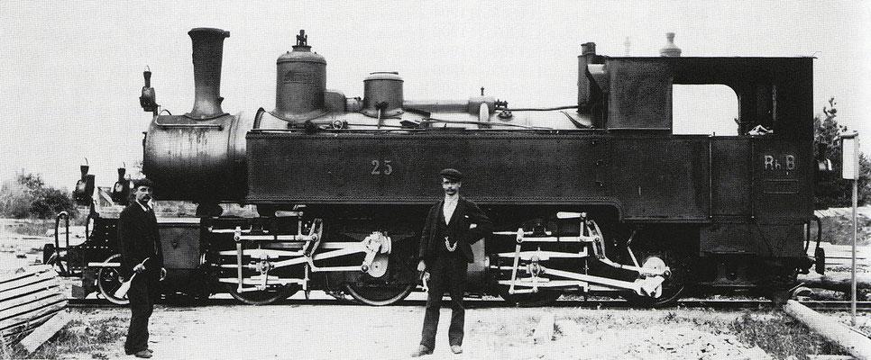 RhB Dampflok G 2 x 2/2 Nr.25