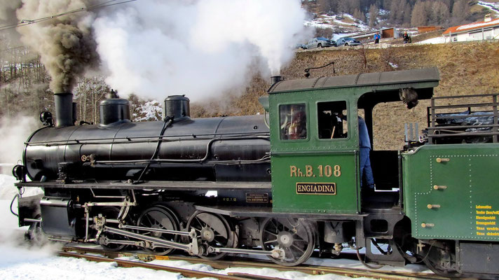 RhB Dampflok G 4/5 Nr. 108 auf grosser Fahrt