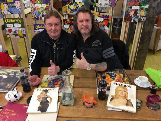Zwei Vinylfreunde für`s Leben Eddie & Thommy bei Rille.ch im Januar 2018