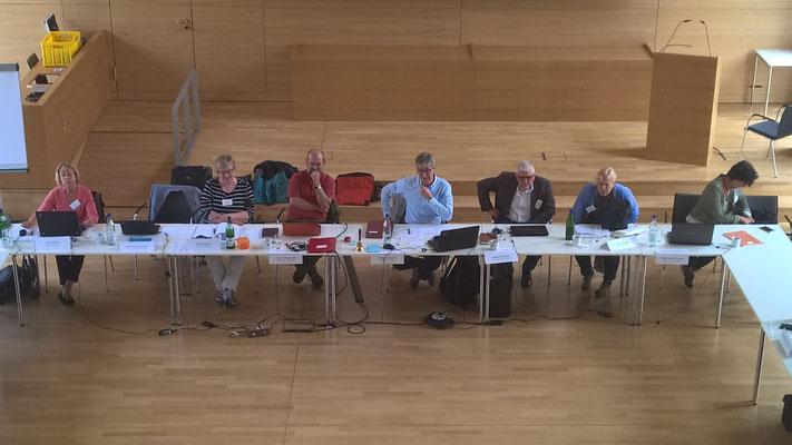 Die LakiMAV: vlnr.: Eva Barth (Geschäftsstelle), Hartmut Schneider (nicht auf dem Bild) Gisela Tausch, Ulrich Faß-Gerold, Andreas Klenke, Matthias Becker, Linda Rüegg und Ulrike Knauff-Arendt