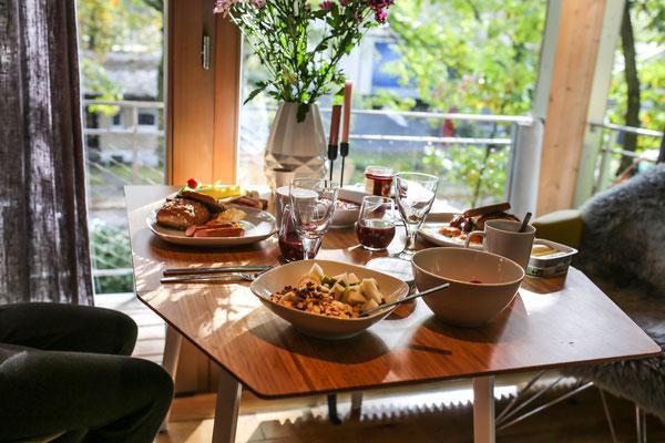 Unser erstes Frühstück am nächsten Morgen war sehr herzhaft.