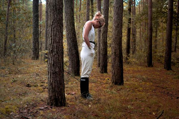 Natürlich durfte ein Shooting im Wald nicht fehlen.