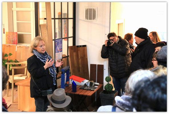 Foto: Udo Funk -- 2. Kunstspaziergang ++ Ausstellungsort Nr. 37 > Besser Parkett > Imke Florin