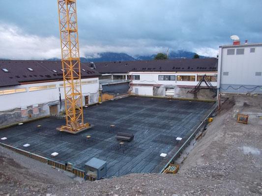 Bewehrung Bodenplatte für eine Industriehalle