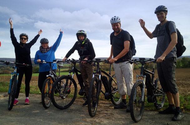 Familie aus Garbsen, rocken den Deister und seine Trails auf e-MTBs