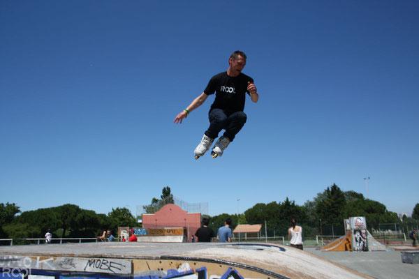ROOL - Stéphane Luchie - Session roller en skatepark