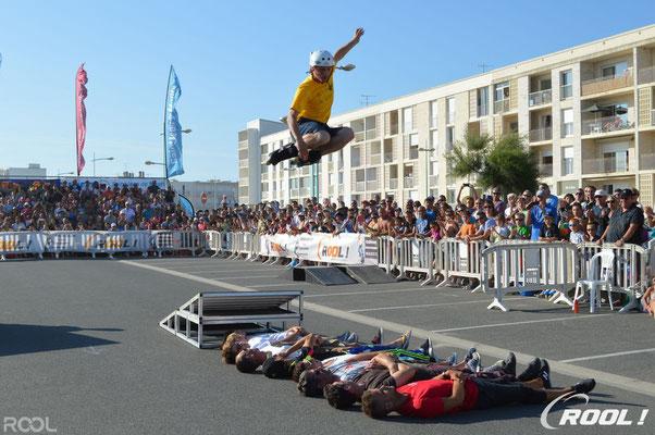 ROOL - Stephane Luchie - Démonstration Roller Acrobatique Tremplin