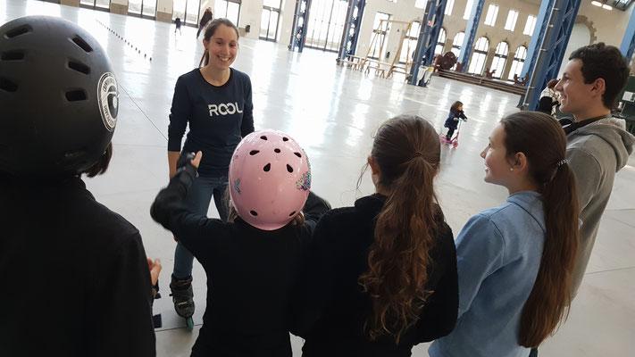 ROOL - Emilie Mignano - Conseille les patineurs