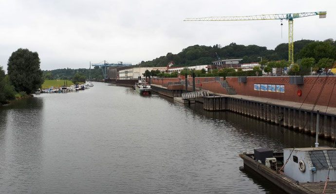 Boizenburg, Hafen an der Boize