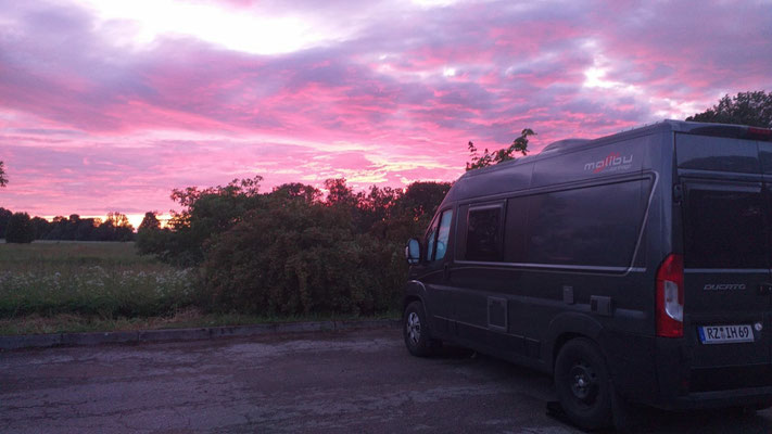 Abenddämmerung in Palmse