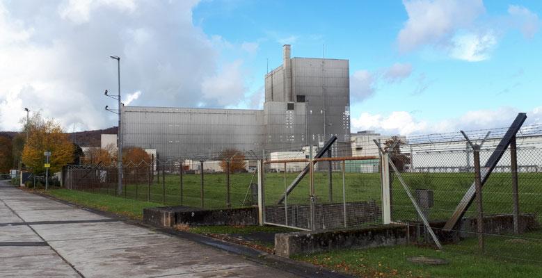 die Reste des AKW Würgassen, die Kühltürme sind bereits abgebaut