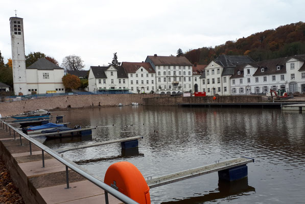 Steganlage für kleinere Boote