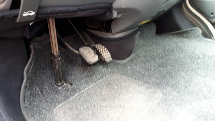 Fahrersitz nachher