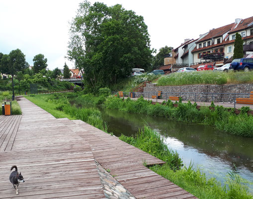 Schöner Park. Mit EU-Mitteln. Ohne die gäbe es den Park nicht