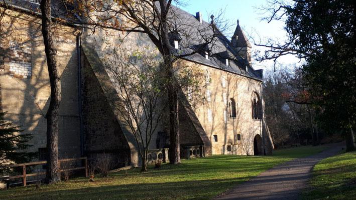 Die Rückseite der Kaiserpfalz, der Garten