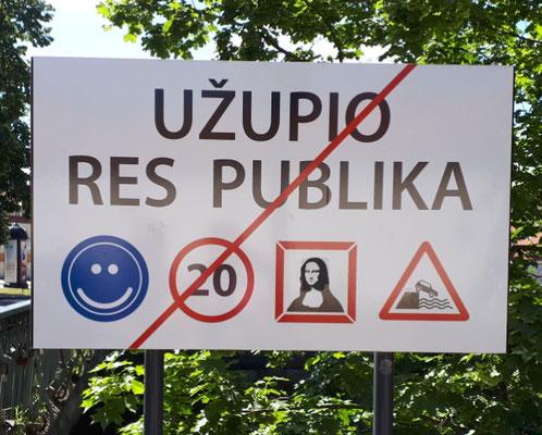 """Ende der """"Staatsgrenze"""" von Užupis"""