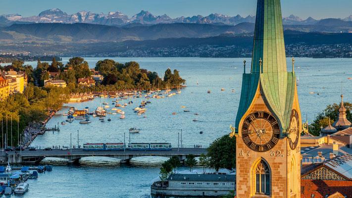Blick Richtung Zürichsee, © Zürich Tourismus