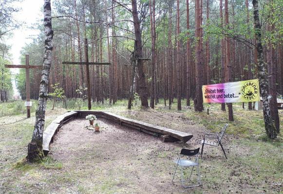 der Platz für das sonntägliche Gorlebener Gebet