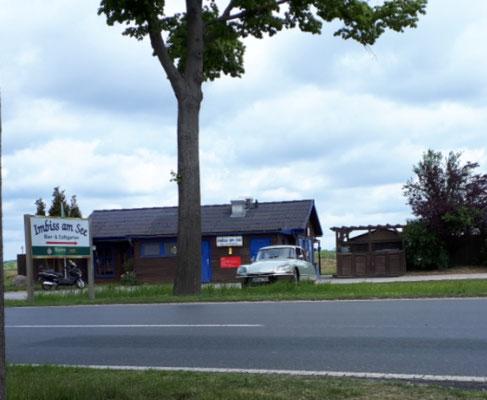 Imbis am Gartower See, direkt neben dem WoMo-Stellplatz