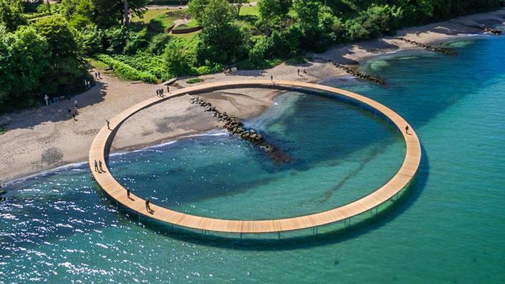 """Die """"unendliche Brücke"""" bei Aarhus, Quelle Visit Aarhus"""