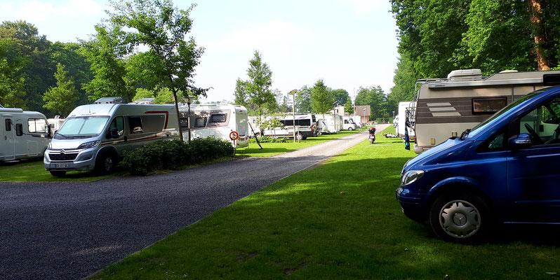 Der Campingplatz ist gut belegt.