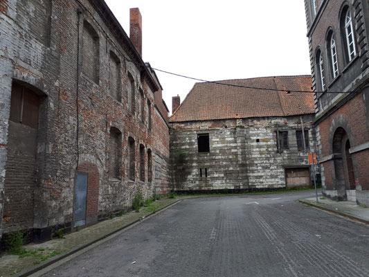 Verlassene Gebäude am Rand der Innenstadt