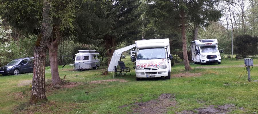 auf dem Campingplatz Eulenburg