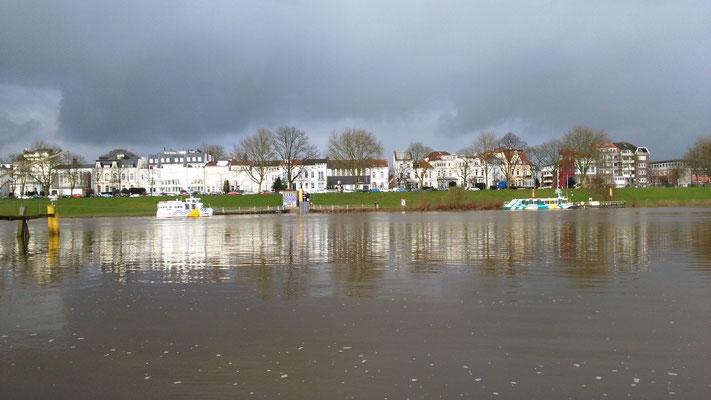 Wohnen mit Ausblick auf die Weser