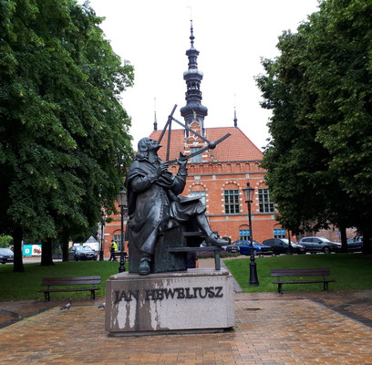 Denkmal für den Astronomen Johannes Hevelius