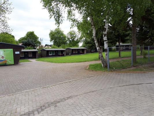 Die Hütten vom Jugendcamp