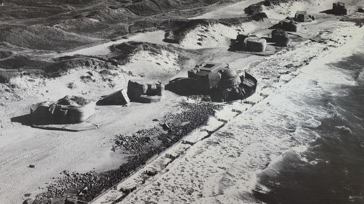 Luftaufnahme der Bunkeranlage