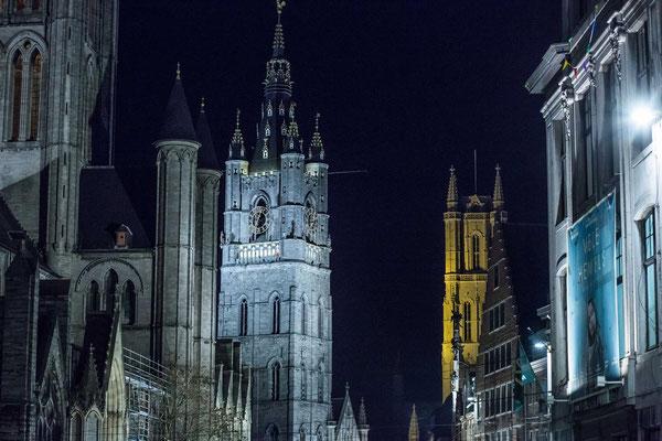 Gent bei Nacht, Quelle VisitGent.be