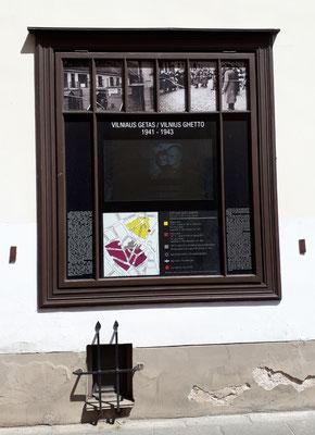 Gedenktafel für das Ghetto von Vilnius
