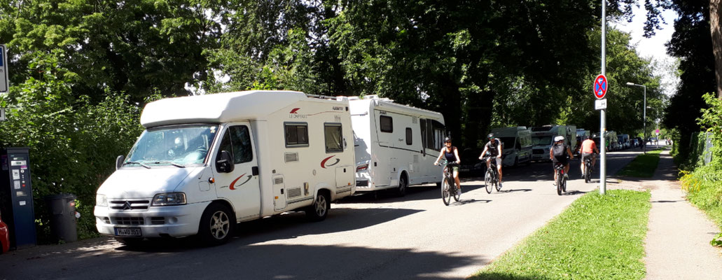 Behelfsstellplatz (Parkplatz) in Lindau, nur für eine Nacht