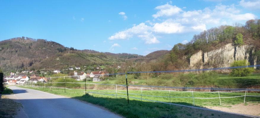 Blick über die Weser bei Pegestorf