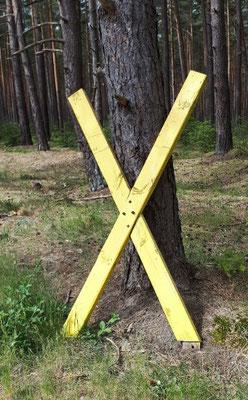 Widerstandssymbol, das gelbe X