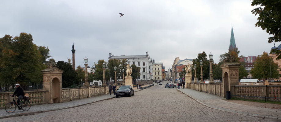Blick vom Schloss in die Altstadt