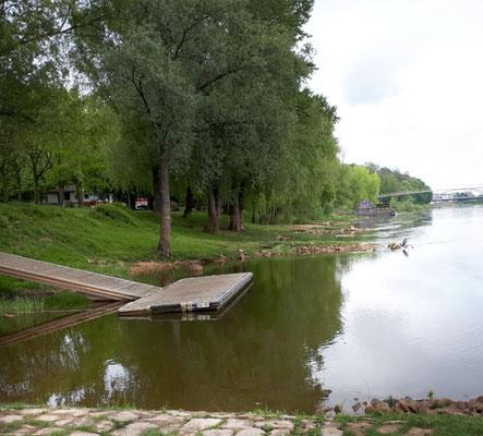 Naherholungsgebiet an der Weser mit Schiffsmühle