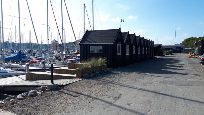 Hütten im Marselisborg Lystbådehavn